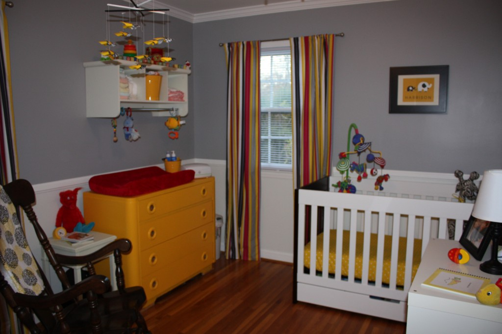 Pin yellow and gray baby boy nursery ideas on pinterest - Gray and yellow baby room ...