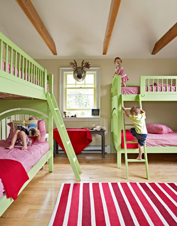Red and green nurseries and kids rooms - Kids room image ...
