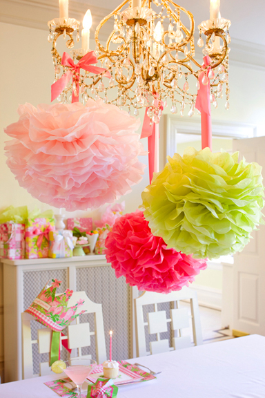 Decorating With Paper Pom Poms