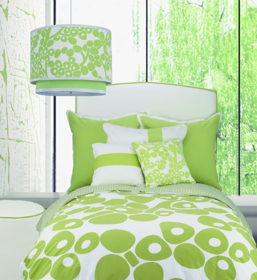 Olio Berries Duvet In Green