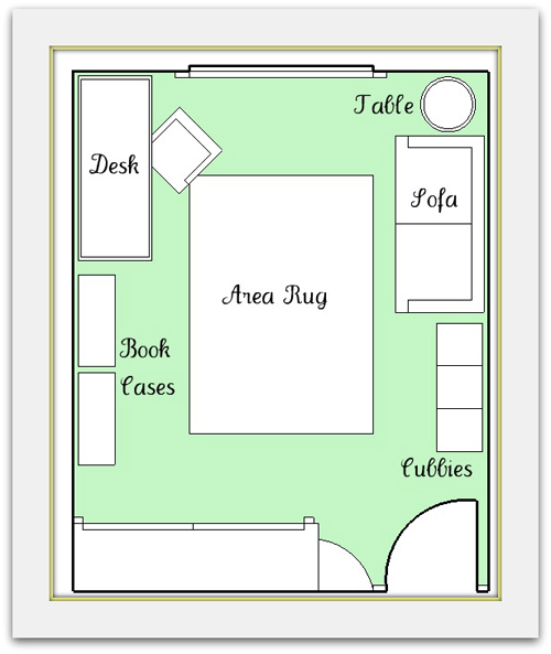 Functional play room design tips Room layout design