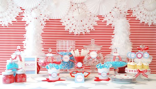 holiday sweets table