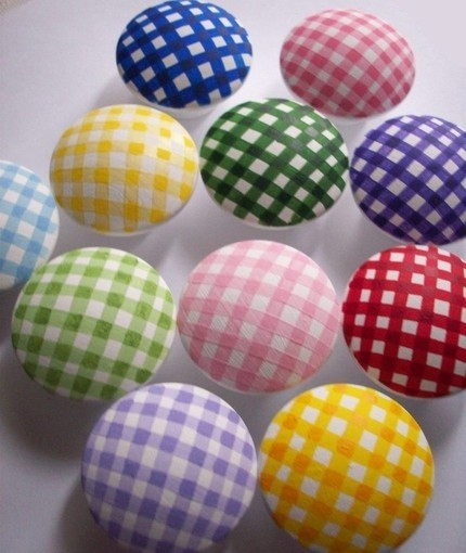 Gingham Drawer Knobs
