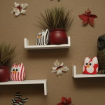 Shelves, owls and wall flowers