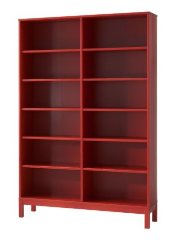 Ikea Red Bookcase