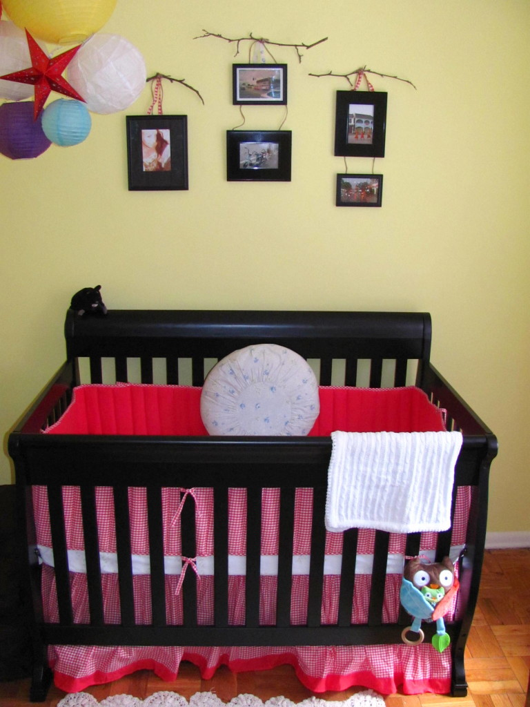 Crib and Accent wall