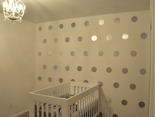 Fresh Finished DIY Polka Dot Wall