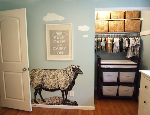 Whimsical Sheep Decal