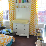 Curtains and changing table