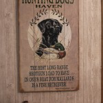 Hunting Dog Wood Art