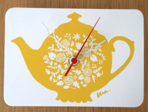 Tea Cup Clock by Decoy Lab
