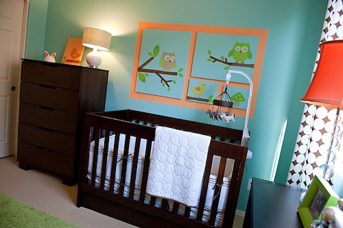 Owl Themed Boy's Nursery 3