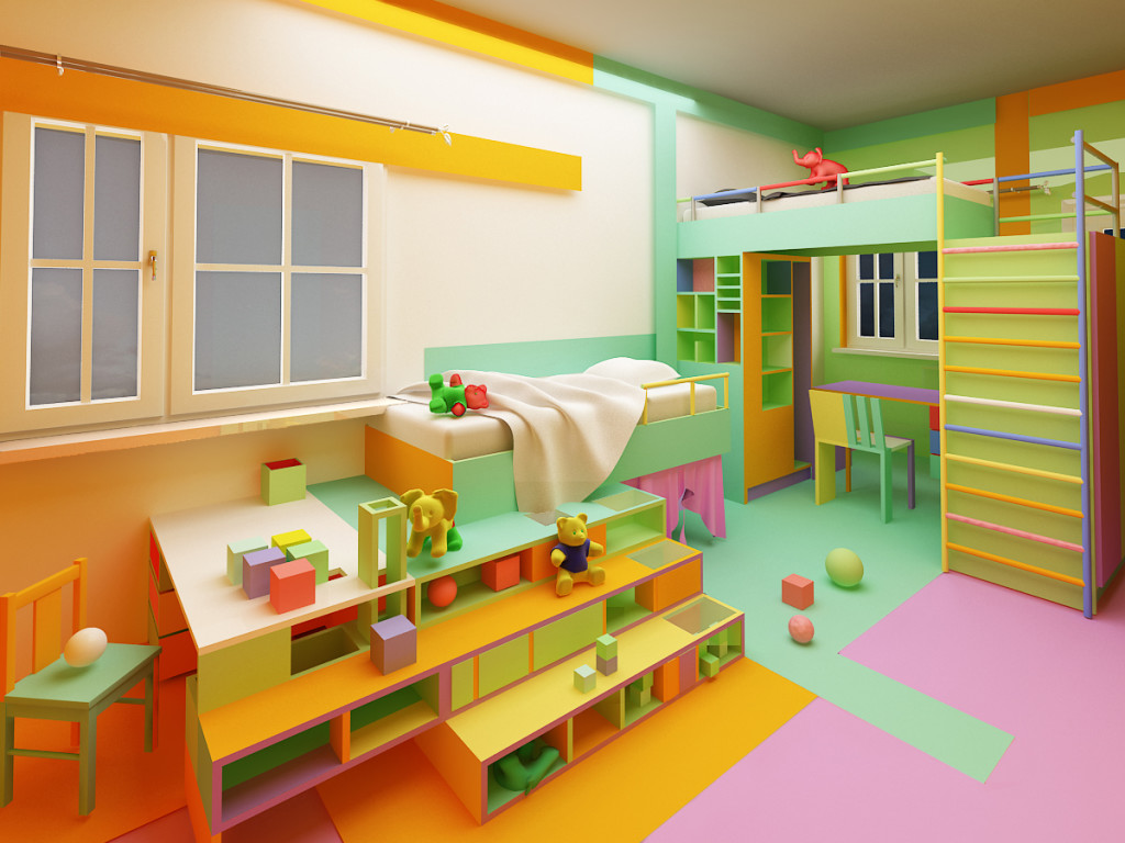 gemelli color kids room 1 - Picture To Color For Kids