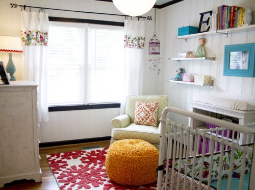 Evyn S Colorful Cottage Nursery By Alyson Duke Katy Of Caden Lane Says I Love The Fresh Look This She Made Most A Small E