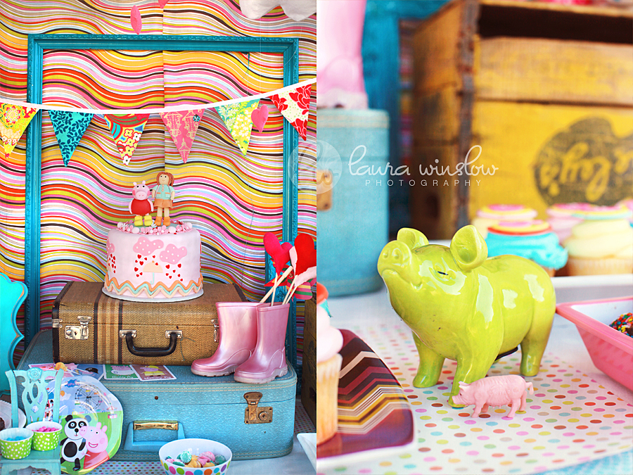 copyright Laura Winslow Photography Addie Peppa Party 2