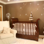 Dandelion wall decal over the crib