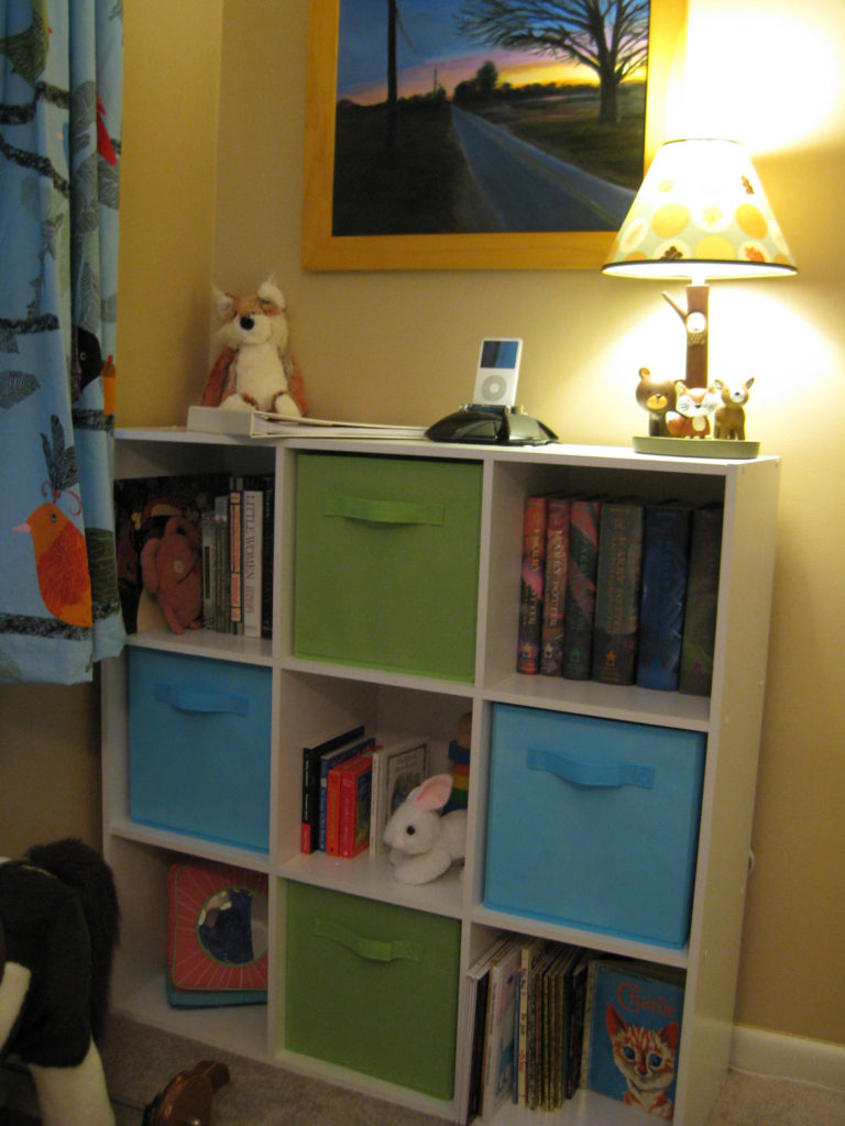 Bookcase with cubbies