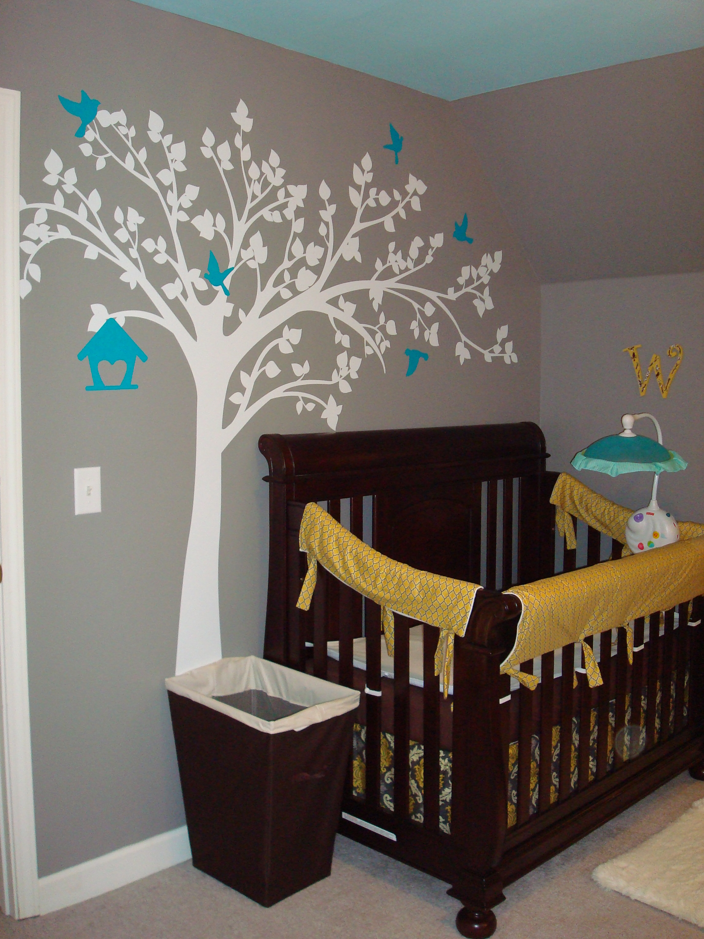 Yellow Gray Turquoise Nursery Project Nursery
