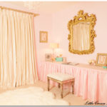 pink and gold vintage nursery