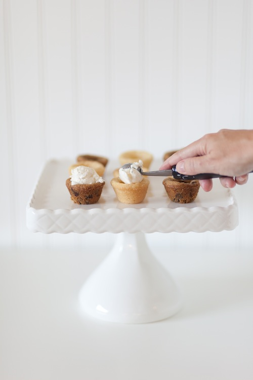 Next, top these mini treats with ice cream and all of the toppings—a ...