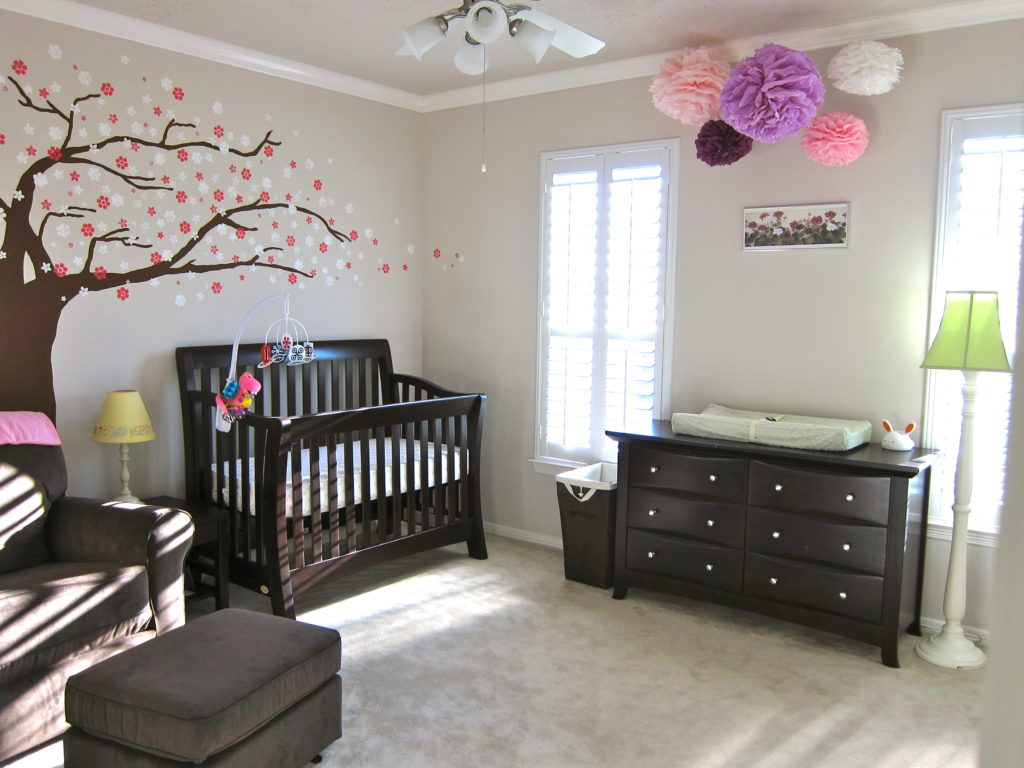 Baby girl 39 s simple neutral nursery project nursery Infant girl room ideas