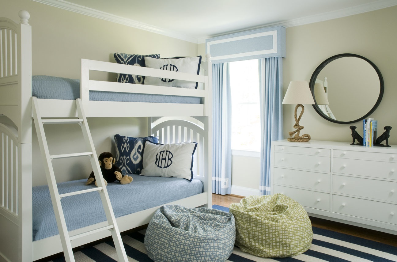 Blue and White Big Boy Room - Liz Carroll Interiors