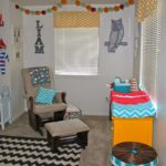 Chevron Rug, Curtains, Changing Pad Cover