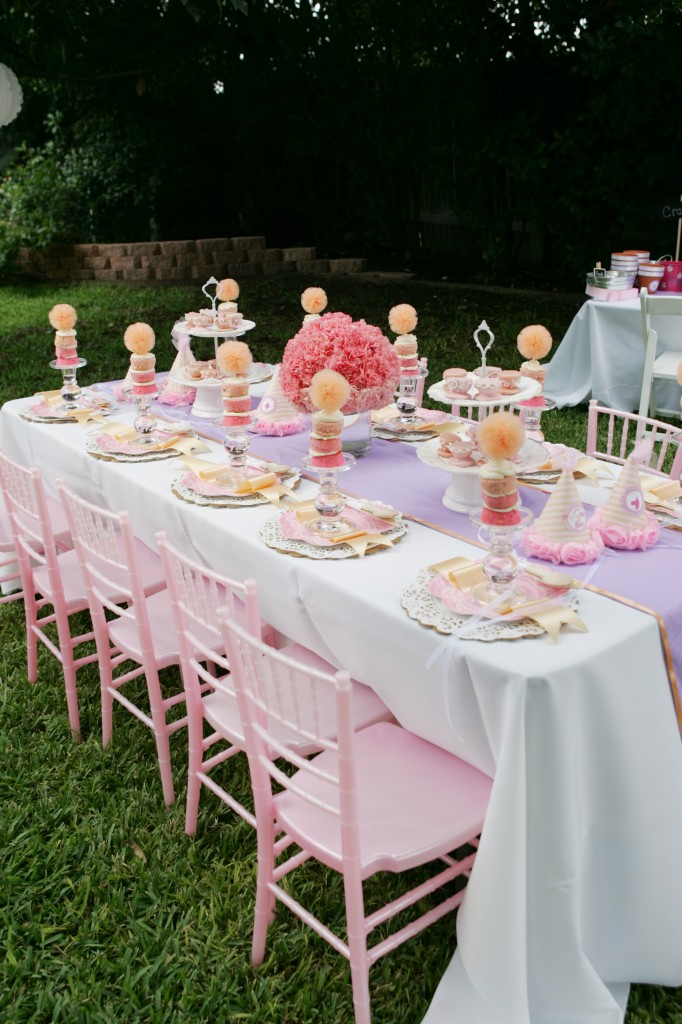 Table set for little girls