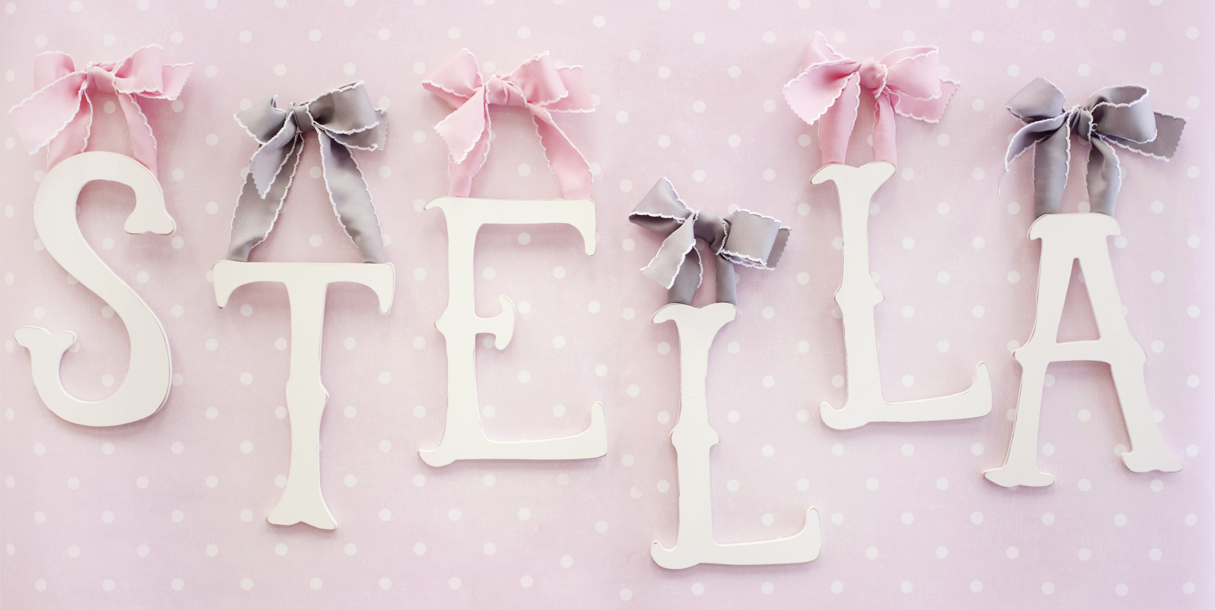 Giveaway 200 new arrivals inc gift certificate for Baby name letters decoration
