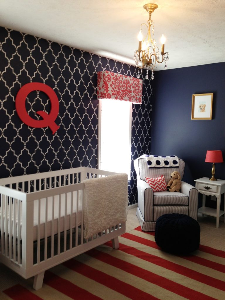 Quincy 39 S Navy Coral And White Nursery Project Nursery