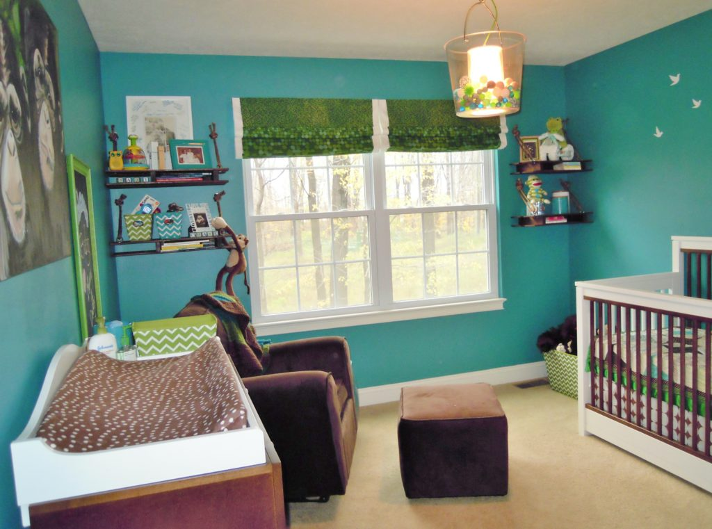 Boy Treetop Nursery Room View