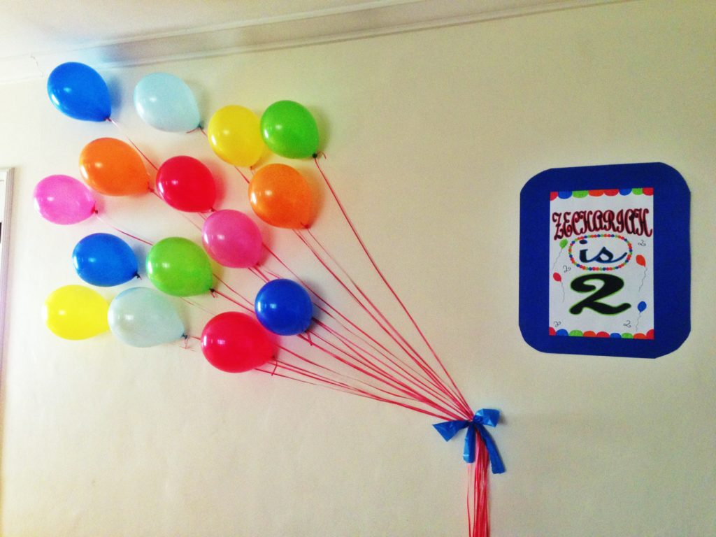 Balloon wall decor party favors ideas Balloon decoration for birthday at home