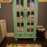 A beautiful teal armoire to add some color