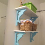 Nursery Bathroom Shelves