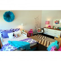 Modern Little Girls Bedroom with an Ethnic Twist