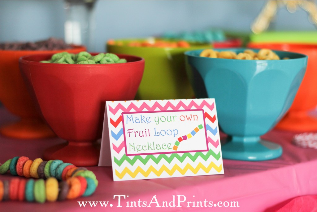 Fruit Loop Necklace sign