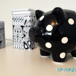 Girls Striped Eclectic Nursery Piggy Bank