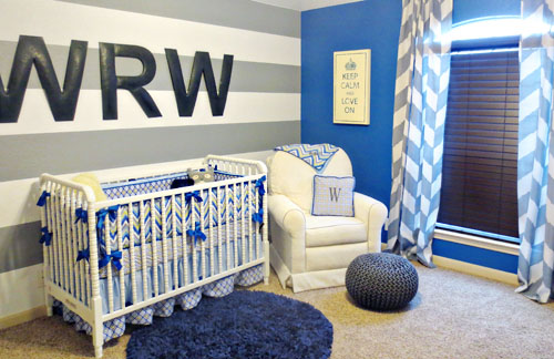 monogram wall decor in the nursery