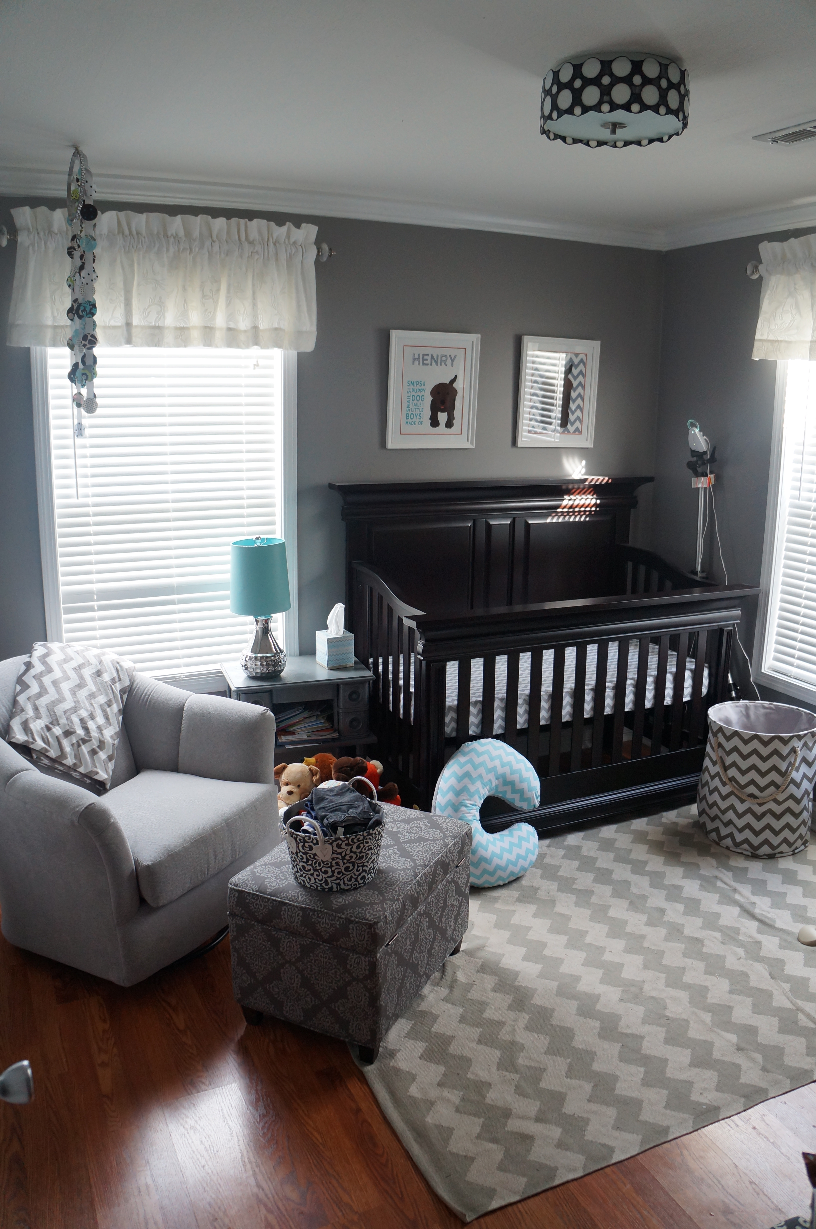 Henry 39 s chevron nursery project nursery for Baby room design ideas