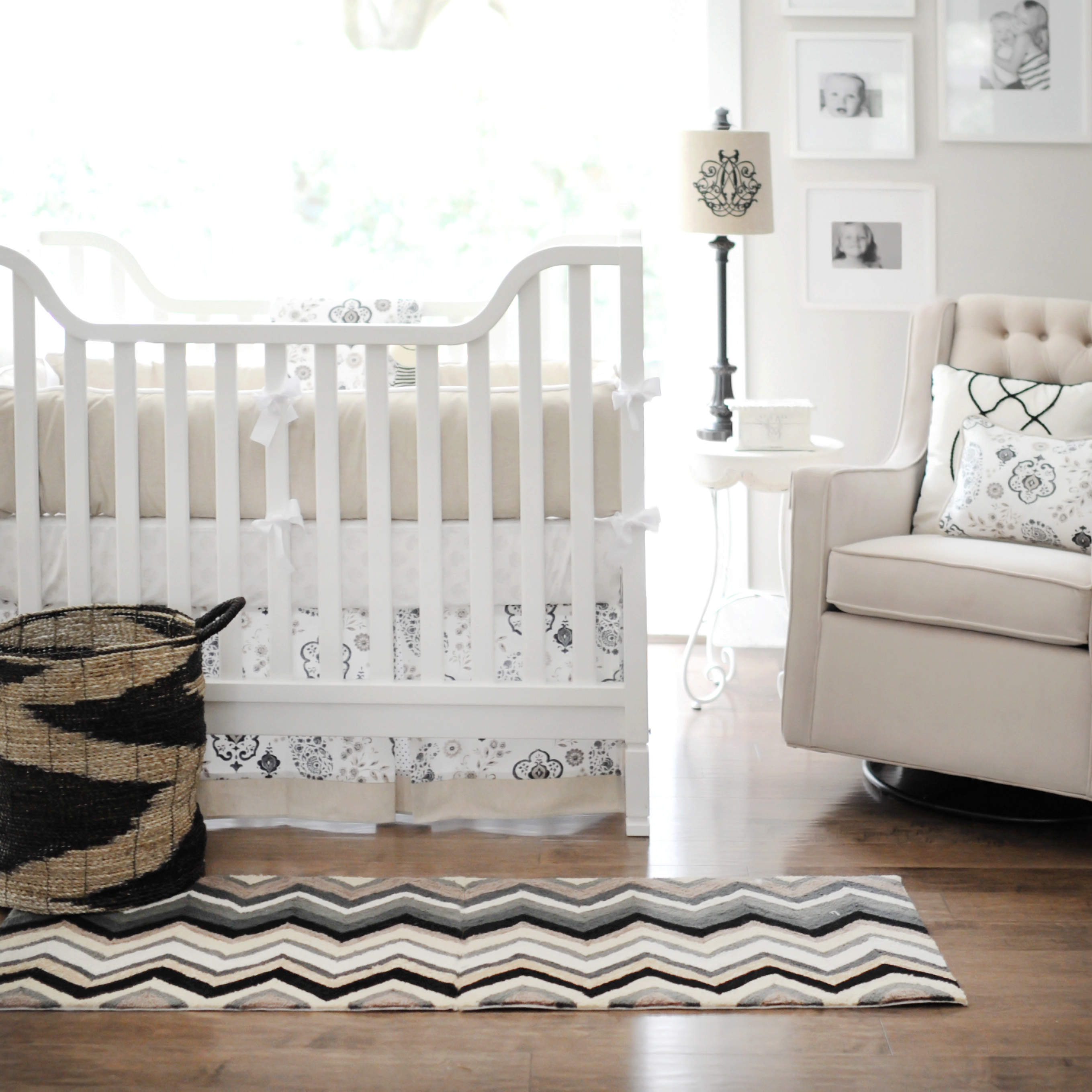 Ideal New Arrivals Taupe Crib Set