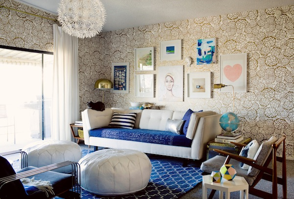 Blue And Gold Living Room Part 66
