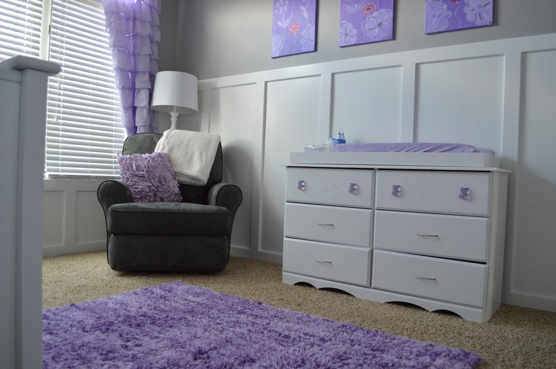 Glider, dresser, and changing table