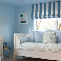 Blue and Green Toddler Room