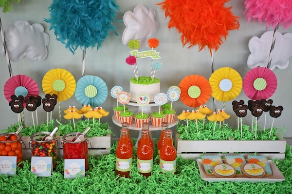 The Lorax Candy Table