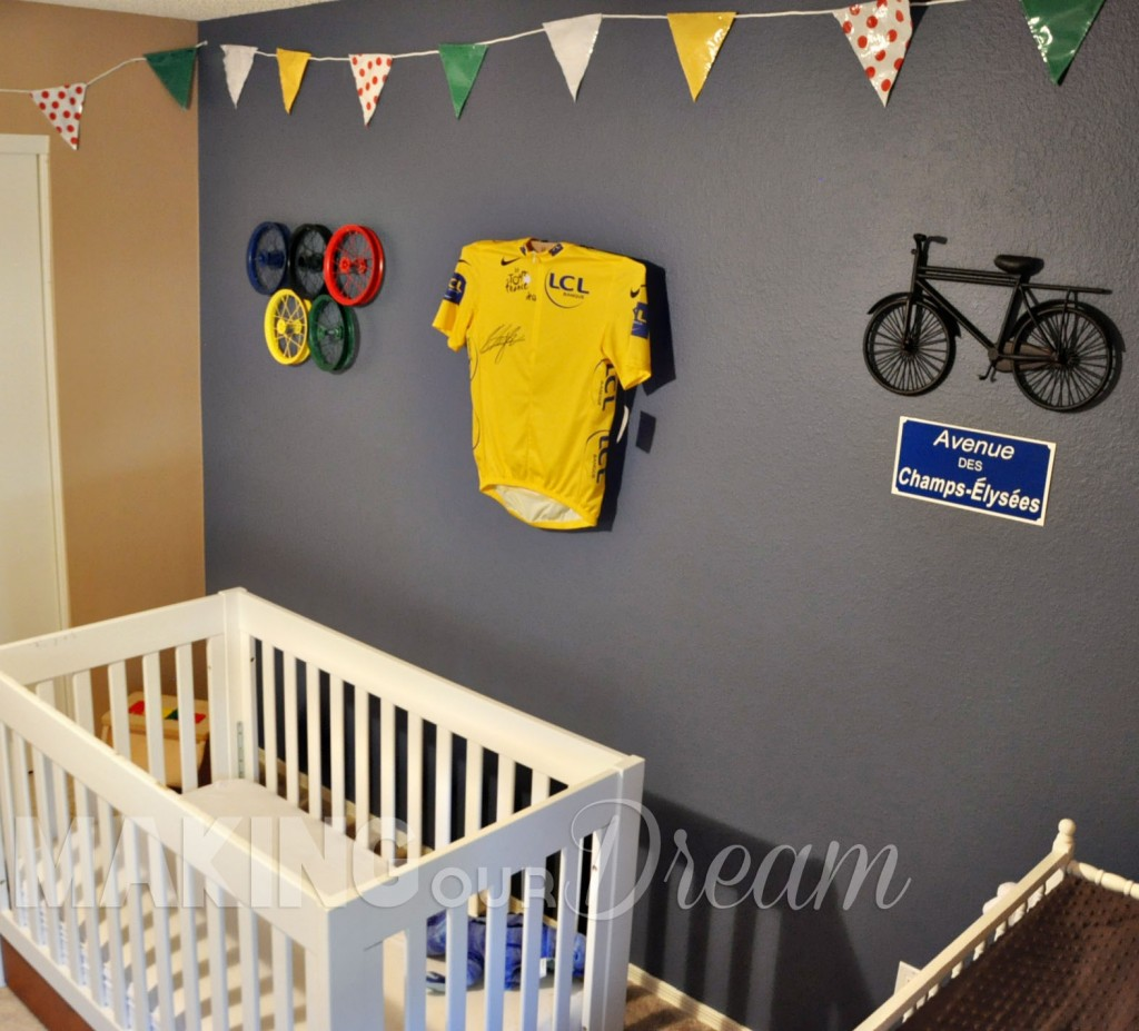 Tour de France Nursery with yellow jersey