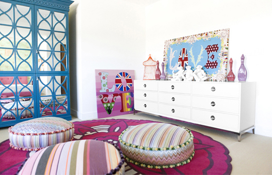 Bright and Bold Kids Room
