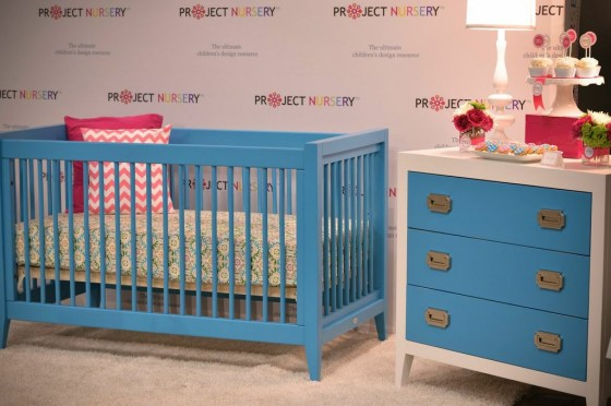 Newport Cottages Blue Crib and Changer