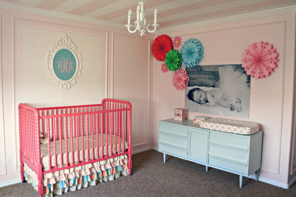 Blue and Pink Girl's Nursery