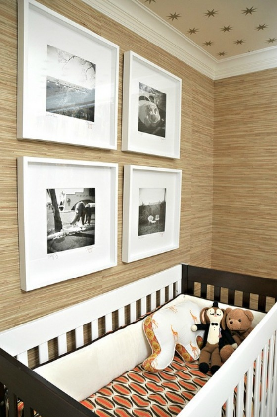 Grasscloth Nursery Wallpaper