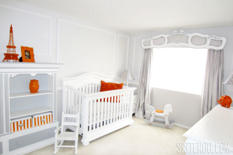 Orange and Gray Modern Nursery